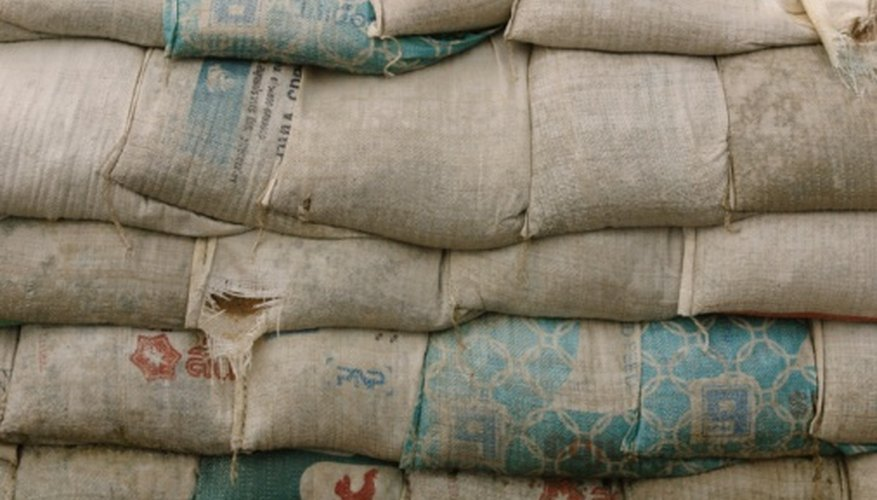 Collect flour sacks to make crafts with a rustic or country look.