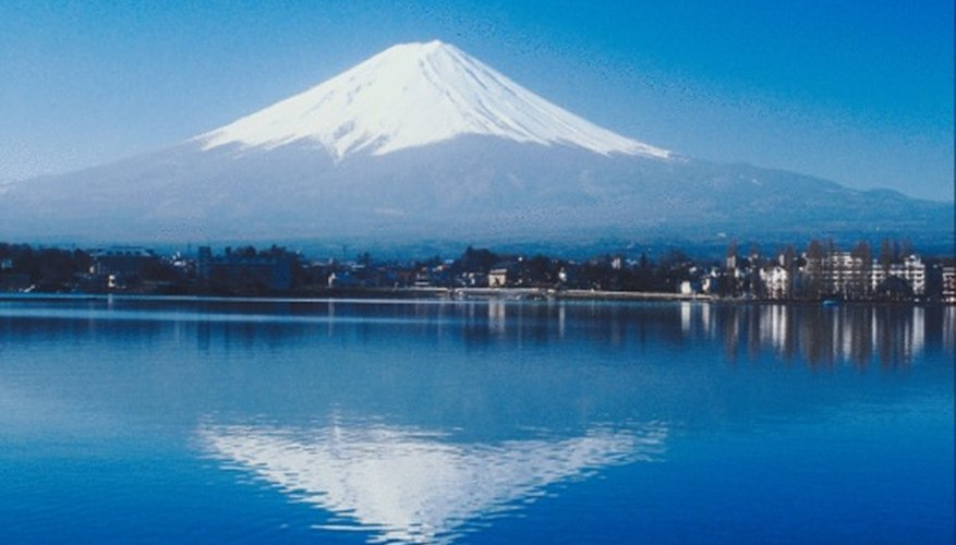 Mount Fuji has a classic composite volcano shape.