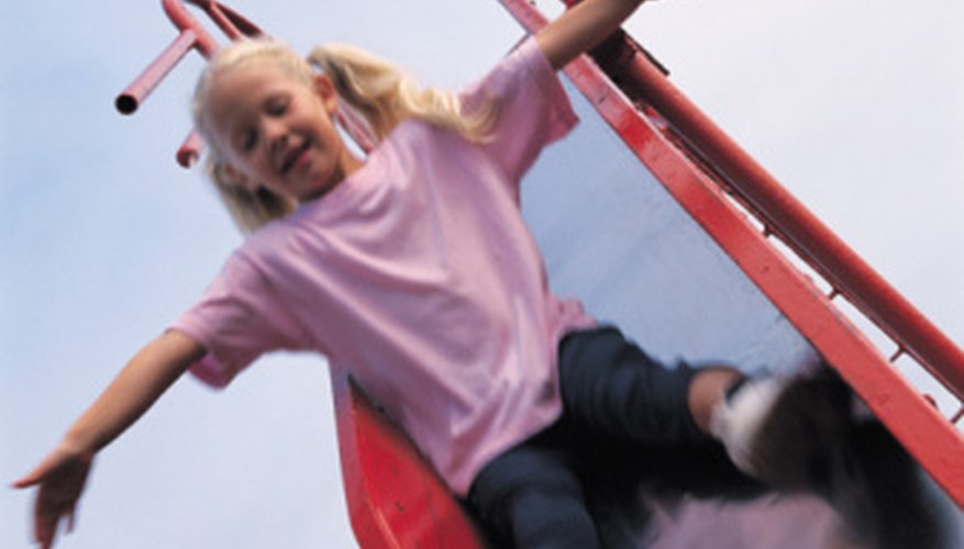 Playground slides are governed by the laws of physics.