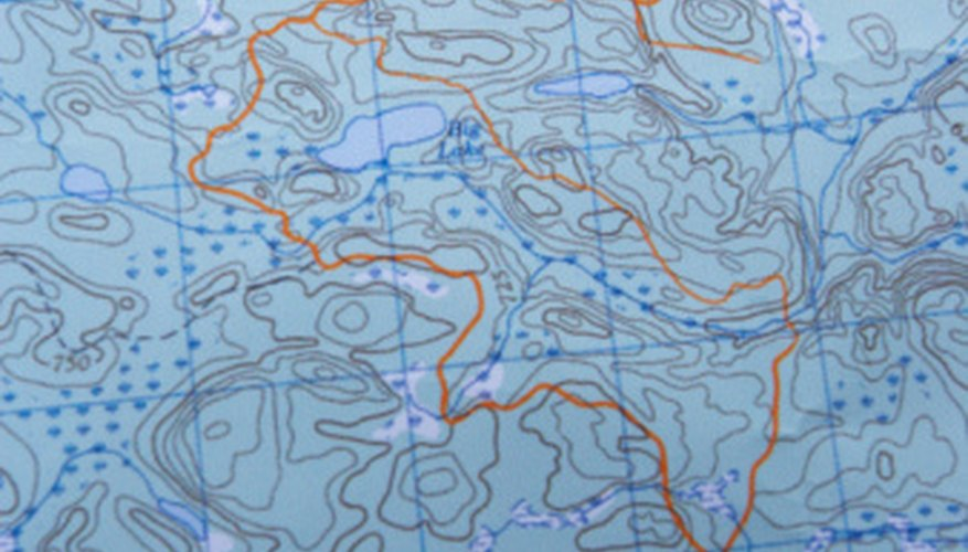 Tops maps use contour lines to represent three-dimensional land forms on a two-dimensional surface.