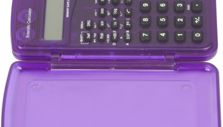 A calculator can aid in the process of writing equations in vertex form.