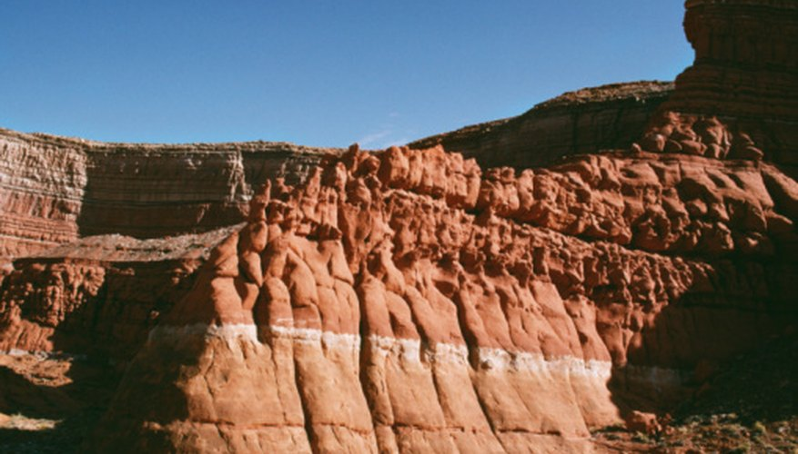 In the Grand Canyon, you can see sedimentary rocks that have been deposited over millions of years.