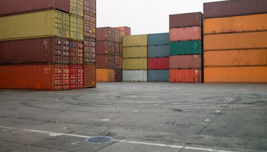 Shipping yards are one of many locations that products pass through.
