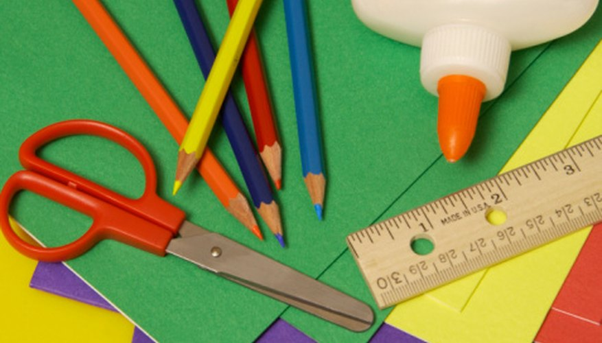 Few materials are needed to begin teaching arts and crafts.