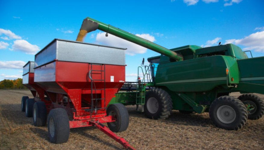 Combine harvester like the Gleaner are instrumental in large-scale grain production.