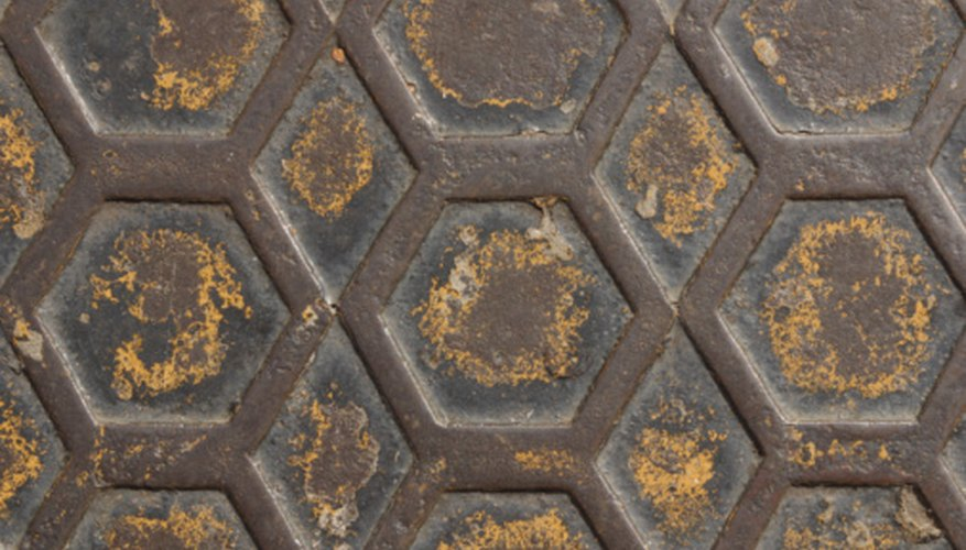 Regular hexagons are found in many structures.