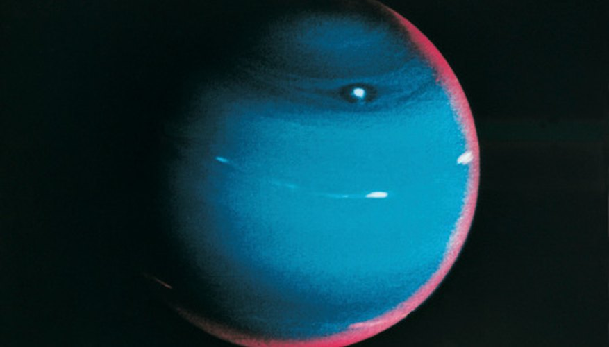Neptune is the smallest of the gas giants.