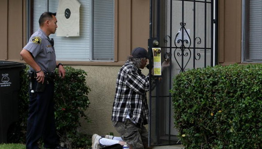 Locksmiths sometimes work with police to access a locked building.