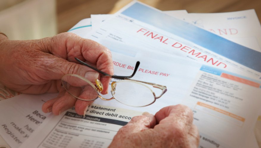 Failure to pay unsecured debts can hurt credit ratings.