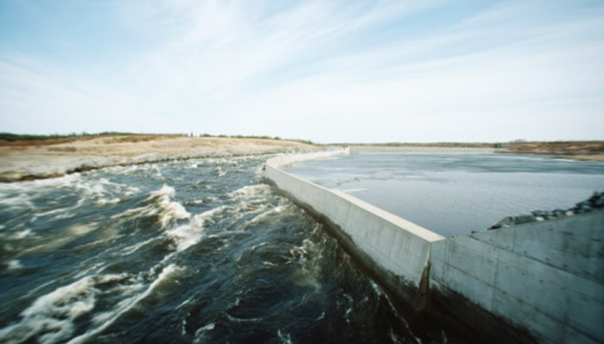 Many regions bordered by water bodies are protected by dams.