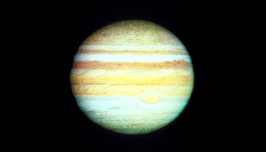 Jupiter's slight tilt causes only small seasonal changes.