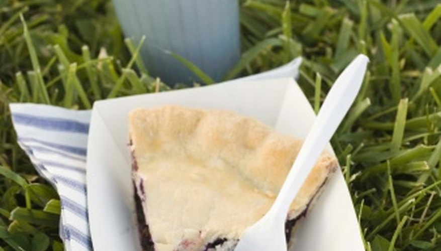 Use homegrown blueberries to make a pie.