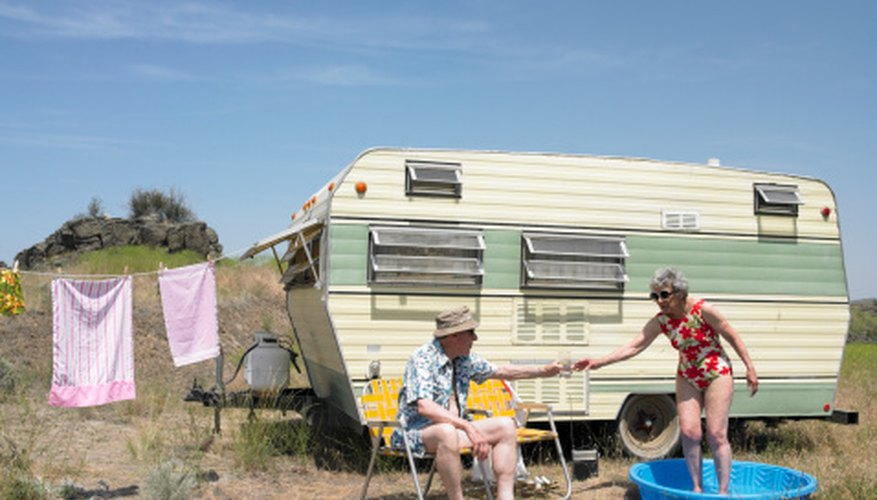 Vintage shasta trailers can be restored for use when vacationing.