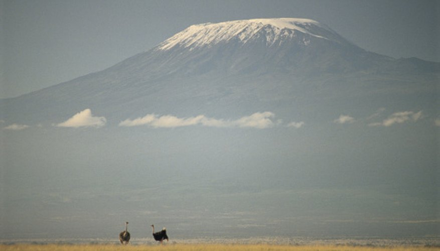 Mt. Kilimanjaro has a glacier even though it is near the equator.