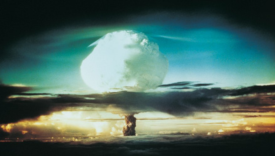 Both fission and fusion reactions are options for nuclear bombs.