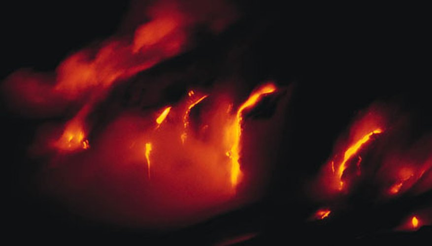 Hot gases emitting from the lava are deadly, erasing all life around it.