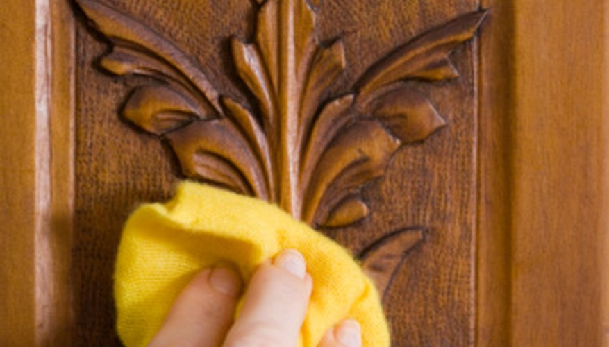 The type of finish used on a carving can depend on the type of wood.