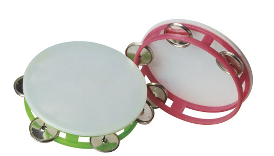 A tambourine is easy for a young child to hold and use.
