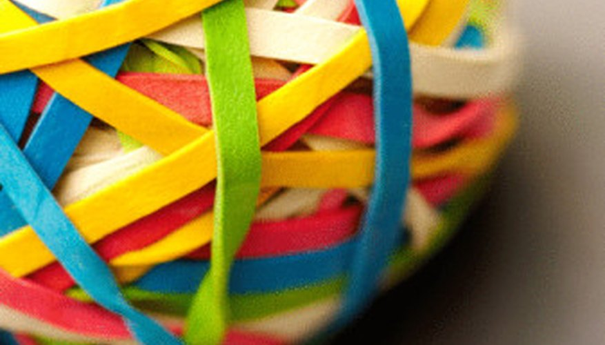 Rubberbands are easy to find, and easy to work with.