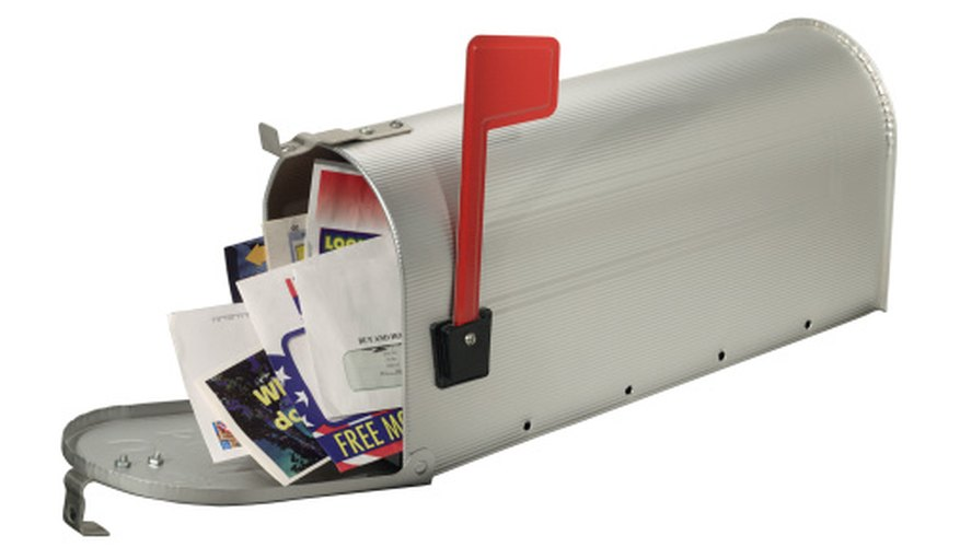 Help the environment by removing your name from junk mail lists.