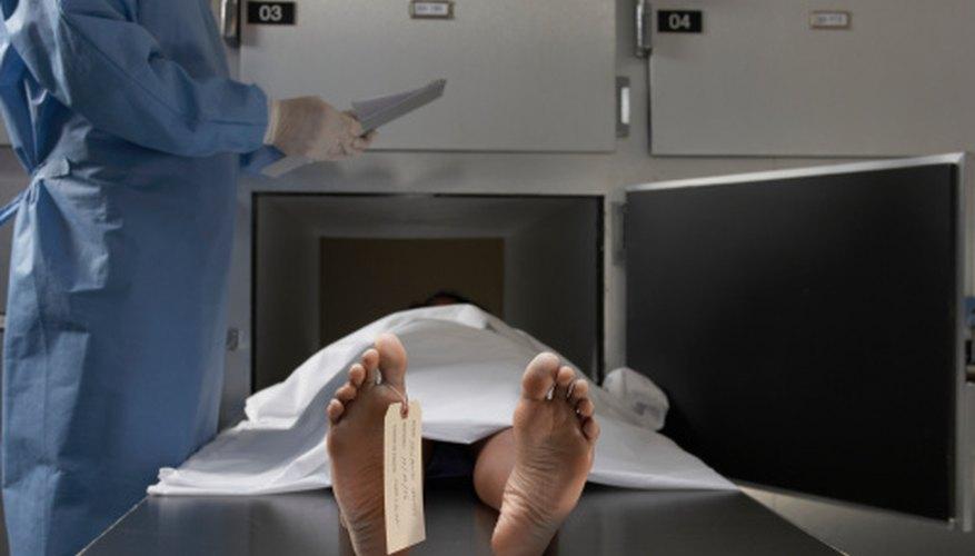 Los patólogos forenses investigan si la muerte de una persona fue natural o no.