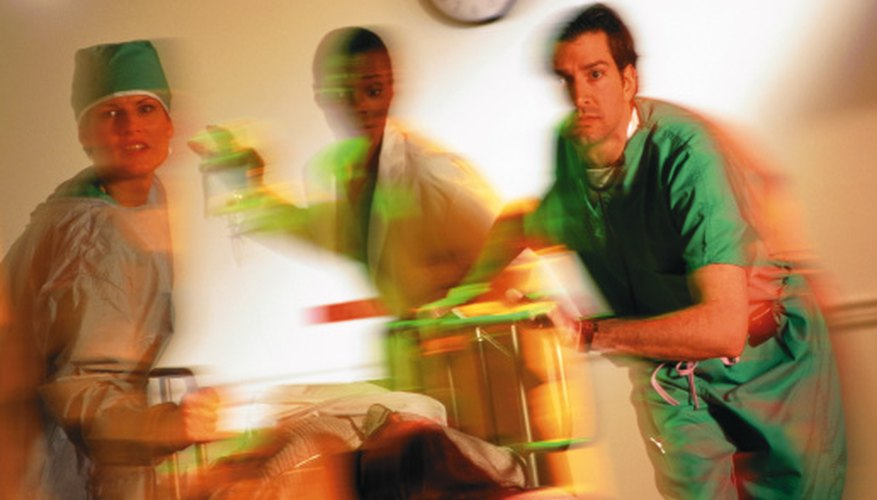 Medical school training requires working long periods without sleep.