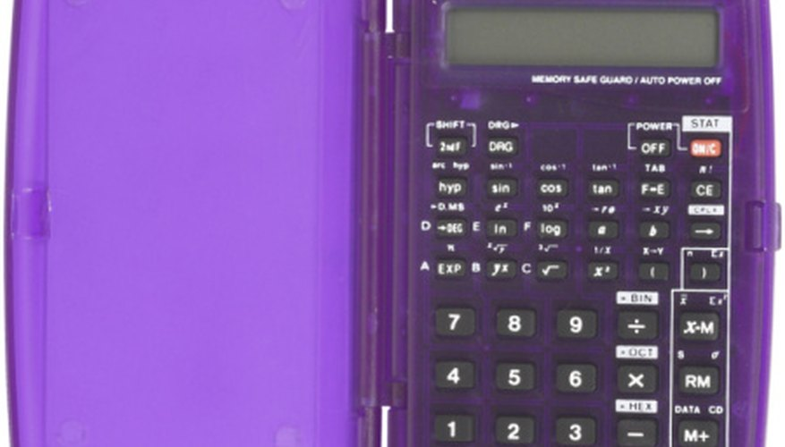 A scientific calculator contains programmed sine and cosine tables for easier equating.