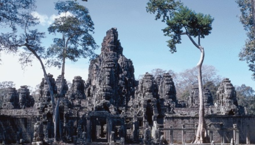 Angkor Wat's builders crafted the temple city out of thousands of tons of sandstone.