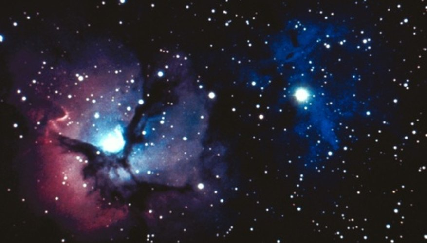 Beautiful pictures of nebulae can be captured through optical telescopes.