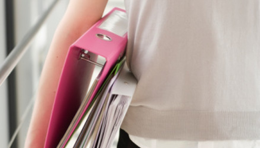 BInders keep paperwork organized and accessible.