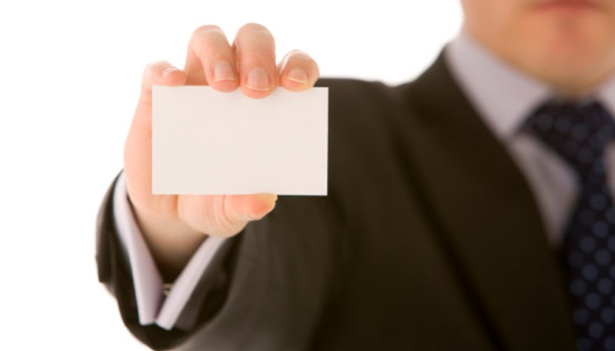 Bizarre business cards can be a creative marketing project.