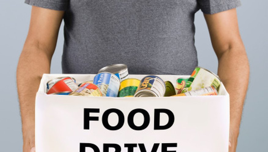 Successful food drives can help recruit new volunteers and improve access to funders.