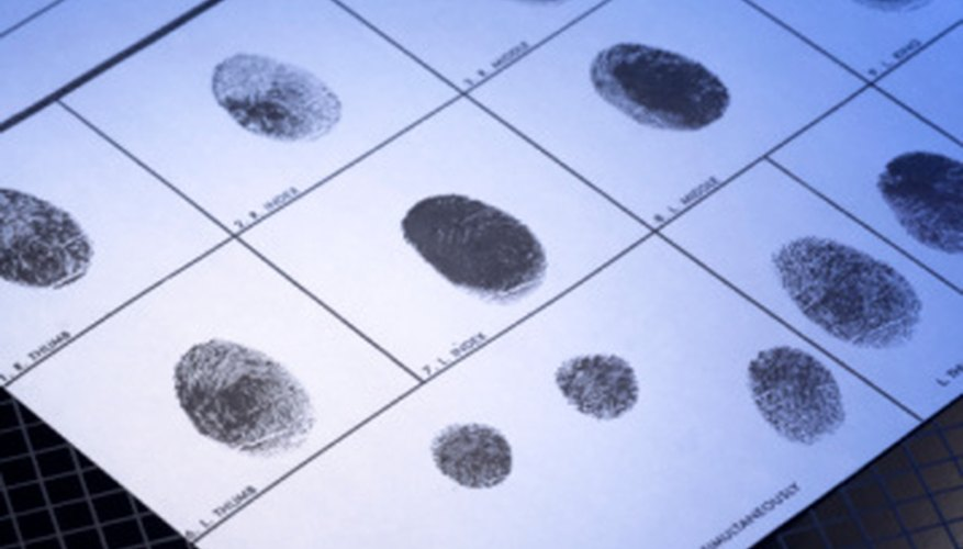 Your background check may include being fingerprinted.