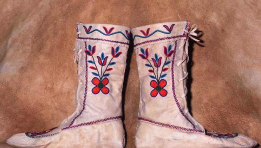 The traditional Navajo Shoe Game is played with moccasins or boots.