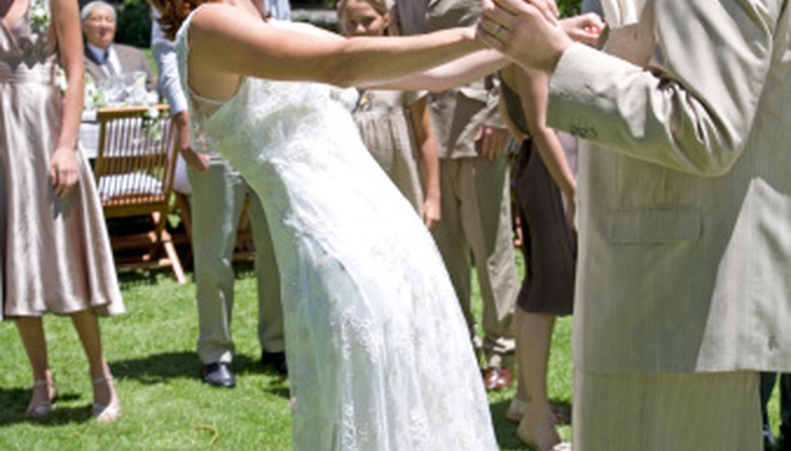 Avoid too much physical exertion when planning outdoor wedding games.