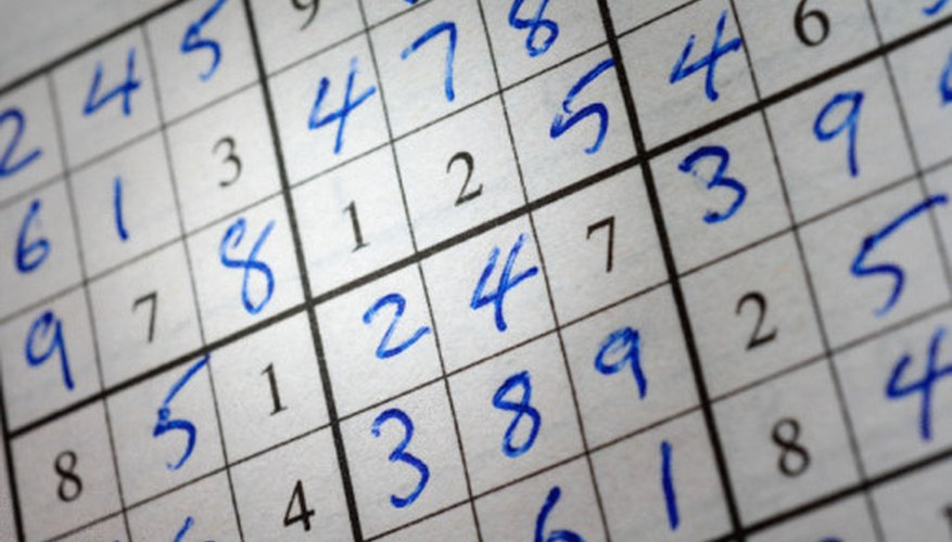 Sudoku puzzles require a basic understanding of counting and numbers.