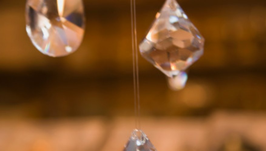 Crystals can be hung in windows or used as ornaments on trees, plants or around the house.