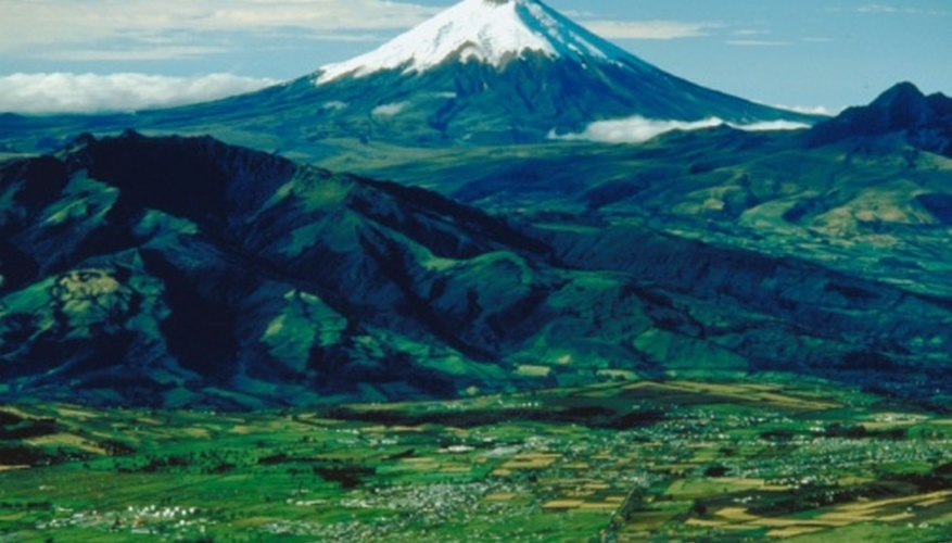 Volcanoes only occur at two types of plate boundary.