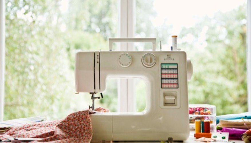 Standard sewing machine configured for sewing fabric.
