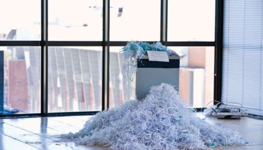 Paper shredders sometimes require repair work to run smoothly.