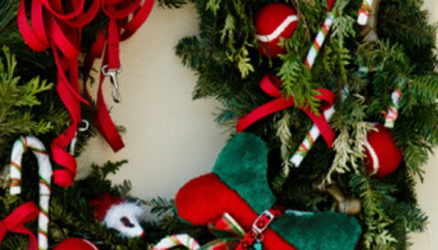 Resist those calories and put your candy bars to better use by making a homemade wreath.