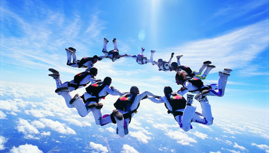 Skydiving is popular among extreme-sport enthusiasts.