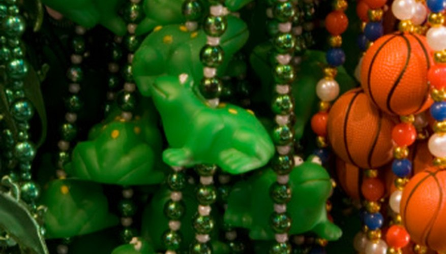 Figurative beads are a popular recent addition to the Mardi Gras festivities.