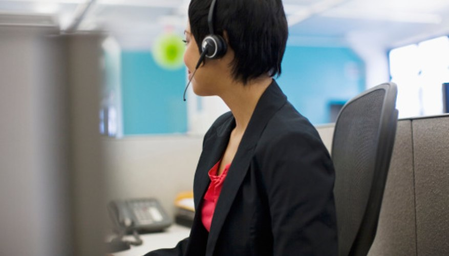 Receptionists spend long hours on the phone and speak to many callers.