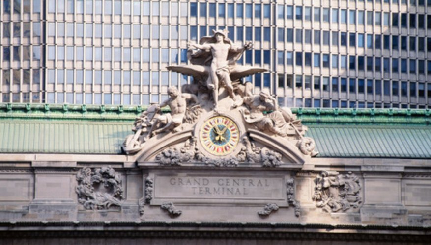 The clock at New York's Grand Central Station is a famous landmark that immediately denotes place.