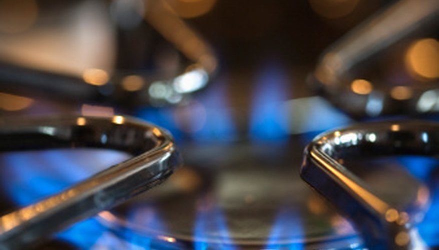 The natural gas fueling appliances such as gas-powered stoves has been processed to mostly isolate methane by removing other hydrocarbons such as propane and butane.