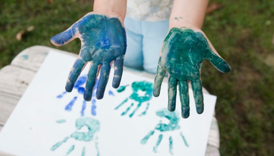Finger painting is fun for all kids.