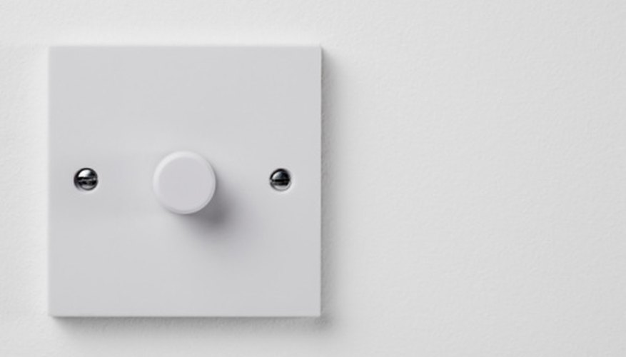 Rheostats are a type of variable resistor used as dimmer switches in homes.