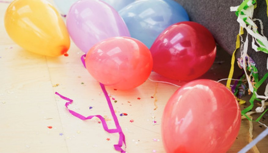 Use balloons to entertain a group of juniors.