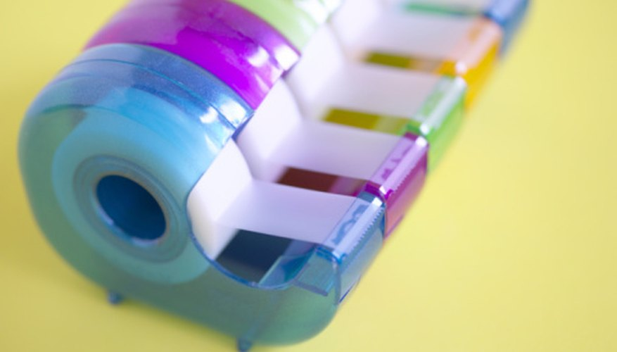 It is possible to make your own adhesive tape.